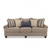 Craftmaster > 797050 Sofa w/ blue accents