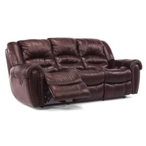 Flexsteel > CrossTown 1210 Reclining Leather Sofa