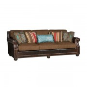 King Hickory > Julianna 3000 leather and fabric sofa