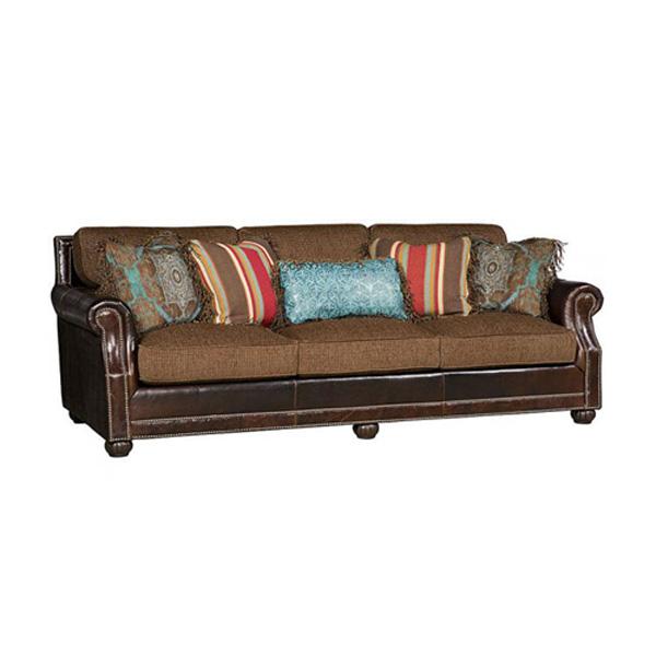 King Hickory > Julianna 3000 leather and fabric sofa