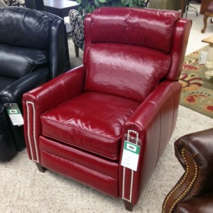 Comfort Design > Camelot Red Leather Recliner