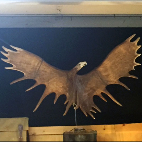 Eagle made of Moose Horns