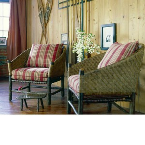 Old Hickory > Captain's Chair and Round Ottoman
