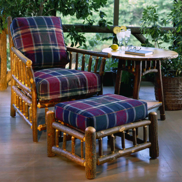 Old Hickory > Grove Park Fabric Chair and Ottoman