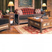 Old Hickory > Woodland Sofa in Buffalo Check
