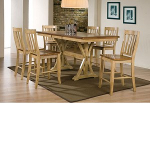 Winners Only > Quails Run DQT13678W Tall Table and Rake Barstools