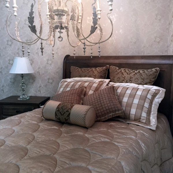 Custom Comforter and Pillows