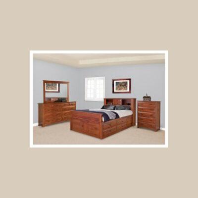 Daniel's Amish > Bookcase Storage Bed