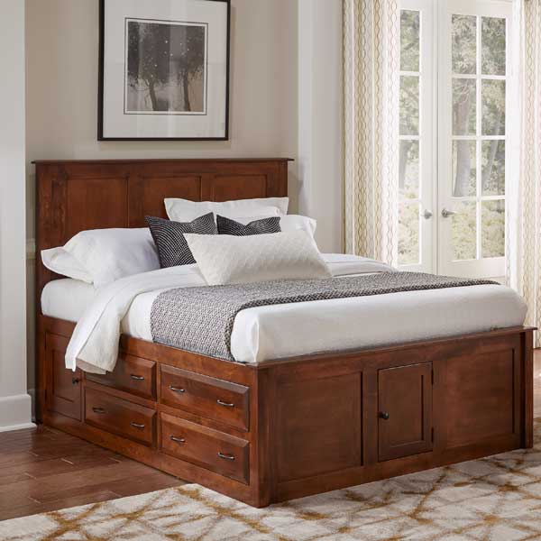 Daniel's Amish > Simplicity Bed with Storage