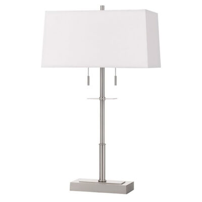 California Lighting > Modern Lamp w/ White Shade