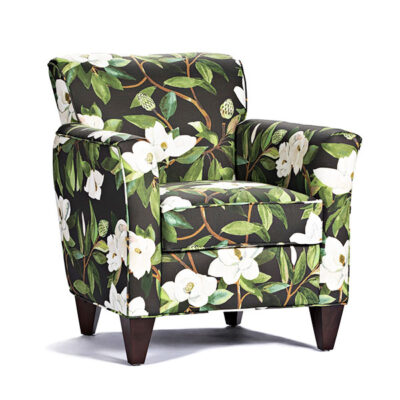Marshfield Furniture > Green White Floral Chair