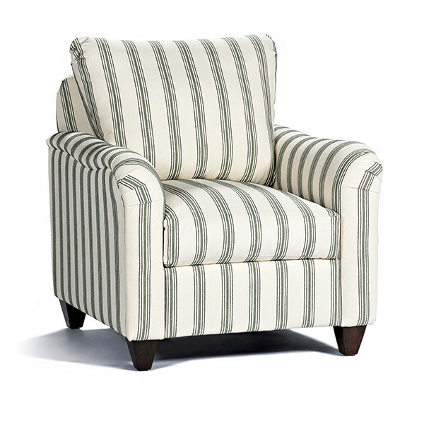 Marshfield Furniture > Loose Back Stripe Chair