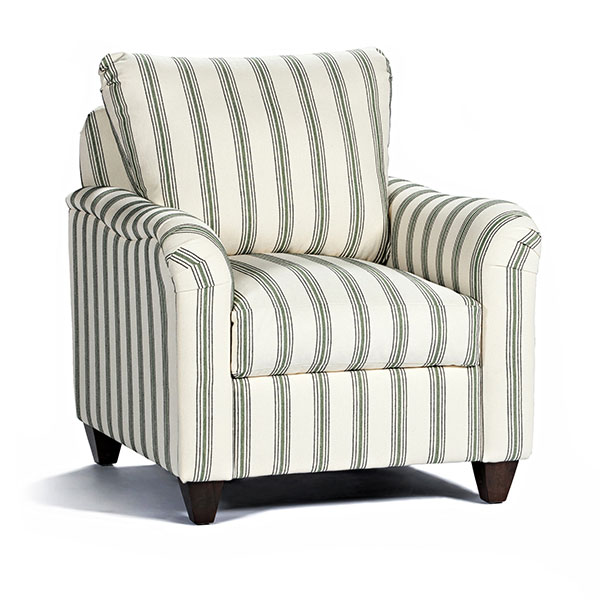 Marshfield Furniture > Loose Back Stripe Chair