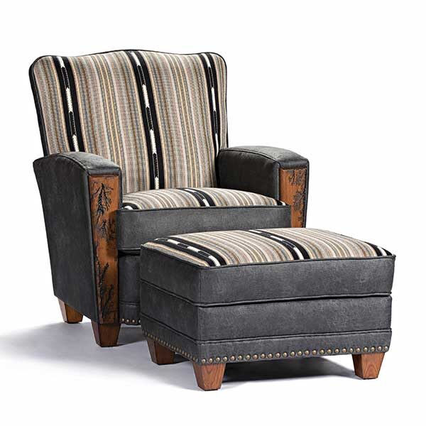 Marshfield Furniture > 2418 Hollister Chair w/ Ottoman