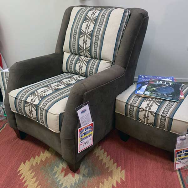 Sale Marshfield Furniture Chair and Ottoman