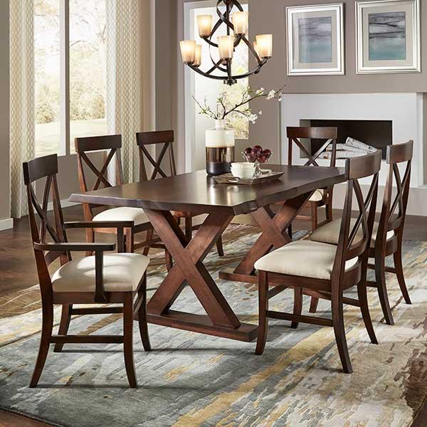 Daniel's Amish | X Base Dining Room Toffee | Fenton Home Furnishings