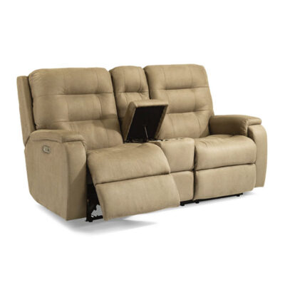 Arlo Loveseat Console | Flexsteel in Michigan | Fenton Home Furnishings.