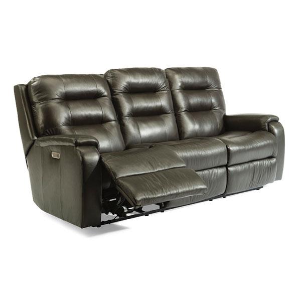 Arlo Leather Sofa | Flexsteel in Michigan | Fenton Home Furnishings.