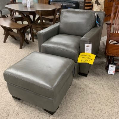 Leather Chair and Ottoman   Flexsteel in Michigan   Fenton Home Furnishings.