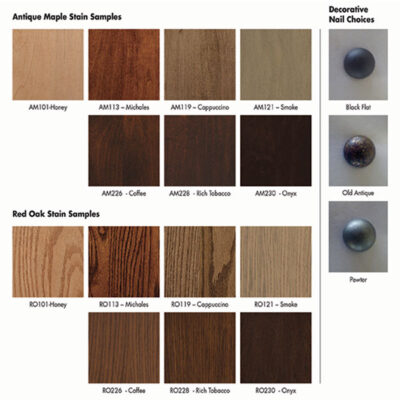 Yoder's Upholstery Stains | Amish Furniture in Michigan | Fenton Home Furnishings
