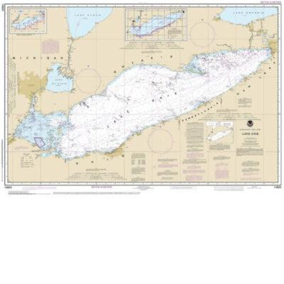 Lake Erie Nautical Chart   Fenton Home Furnishings