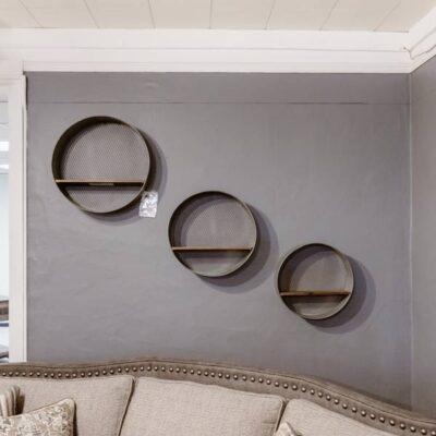 Circle Wall Shelves   Fenton Home Furnishings